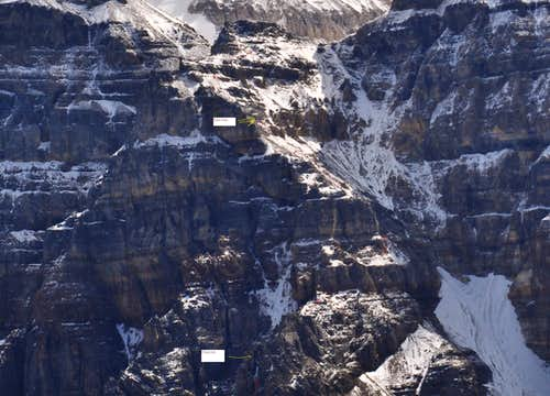 Schiesser Ledges Closeup - Nei Coglan hut approach