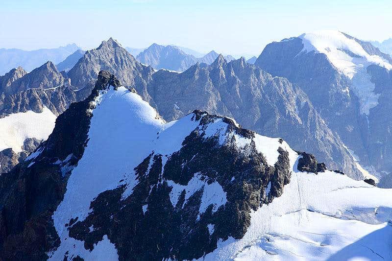 Peak Shurovskogo from Ushba