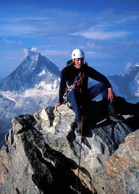 Mike on the summit of the Obergablehorn