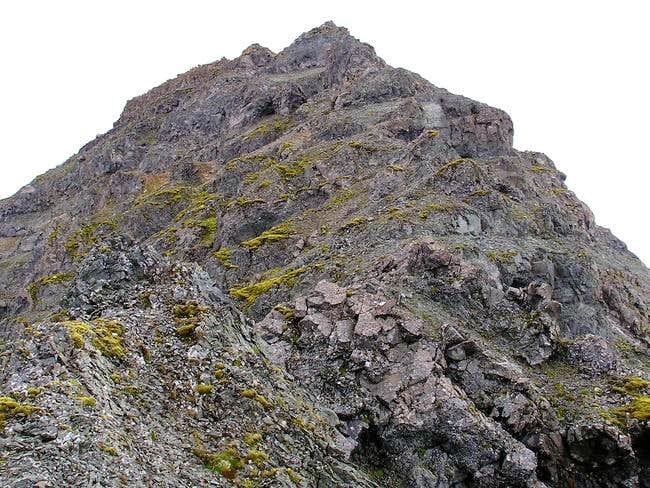 Looking up at the summit...