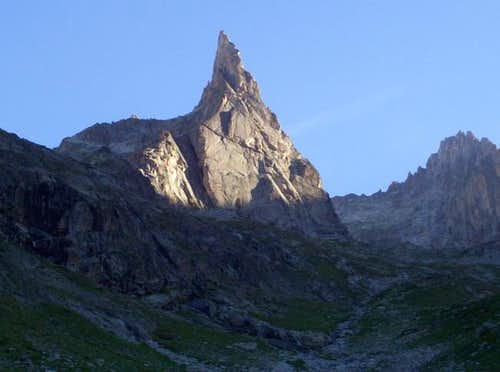 Approaching the Aiguille Dibona
