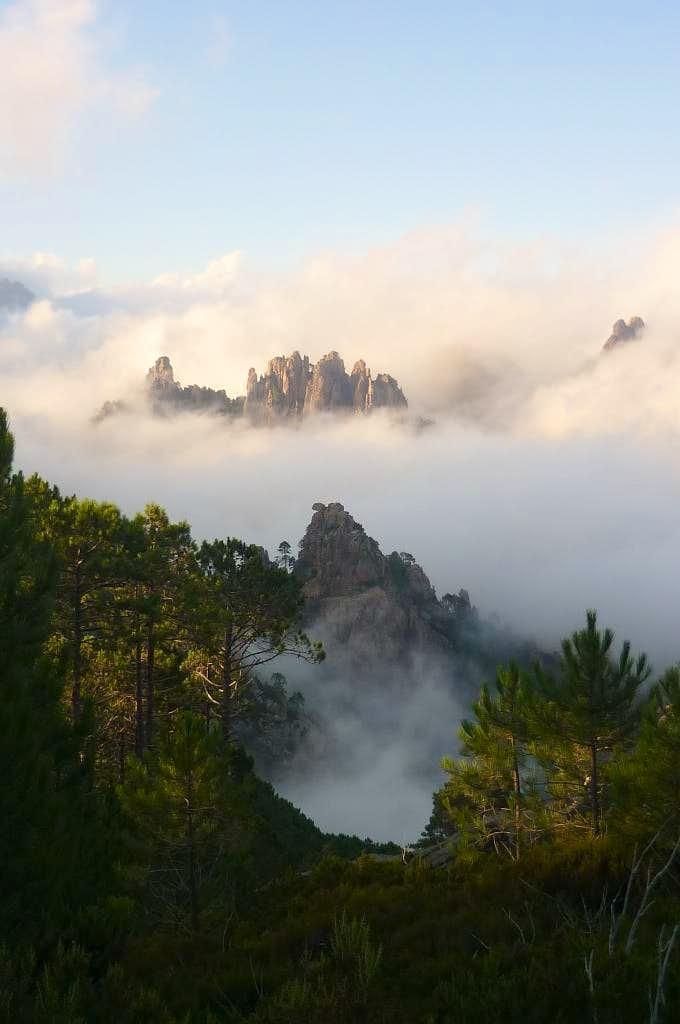 Bocca di Monte Bracciutu at sunset