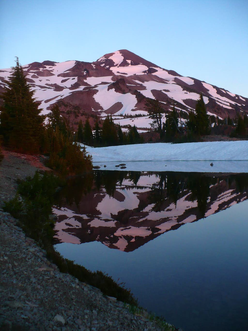 Middle Sister reflected in Arrowhead Lake