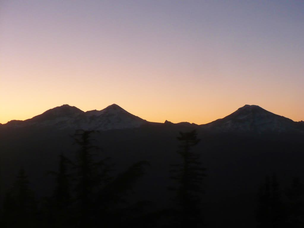 Sunrise on the Three Sisters