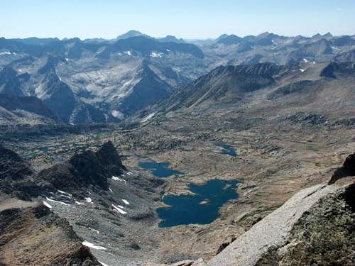 View of Dusy Basin from the...