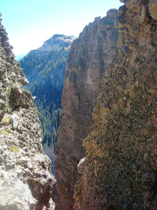 view from the climb