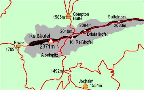 A self-made map of Reisskofel...