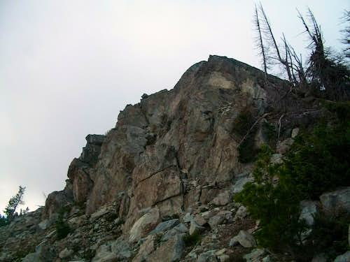 The summit rocks of Bills Peak
