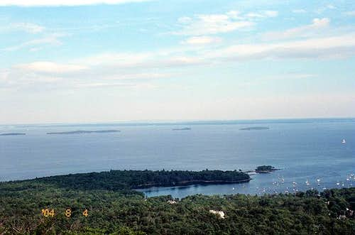 View of Penobscot Bay and...