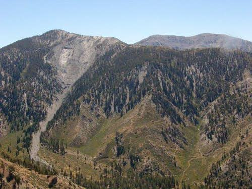 Pine Mtn and Mt. Baldy