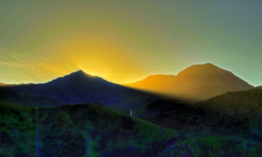Sunset Phenomena - Snowdon / Yr Wyddfa and Crib Goch