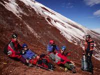 Cotopaxi glacier line