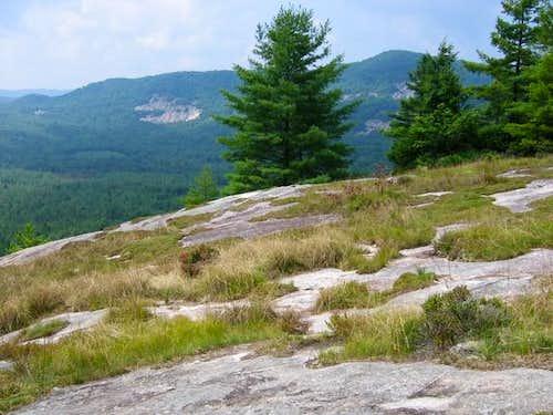 Wider shot of the dry granite...