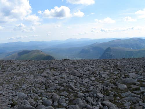 Upper Glen Dee and Devils' Point from Ben McDui