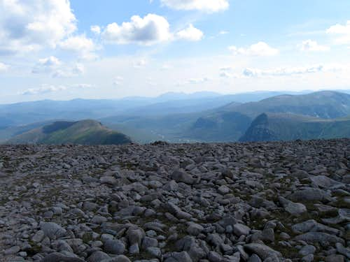 Upper Glen Dee and Devils\' Point from Ben McDui