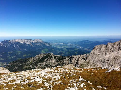 View to Untersberg and Salzburg from the Hohes Brett