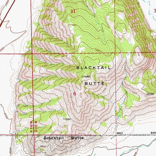 Blacktail Butte Map