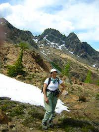 The descent of Ingalls Peak