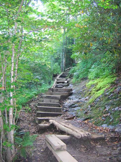 A well maintained trail with...