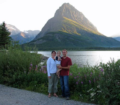 Swiftcurrent Lake family photo