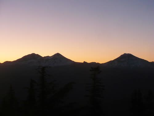 Sunrise on Three Sisters