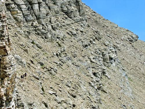 Traversing the cliffs....