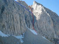Mill's East Couloir