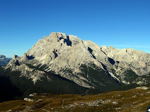 Monte Cristallo seen from refuge Auronzo.