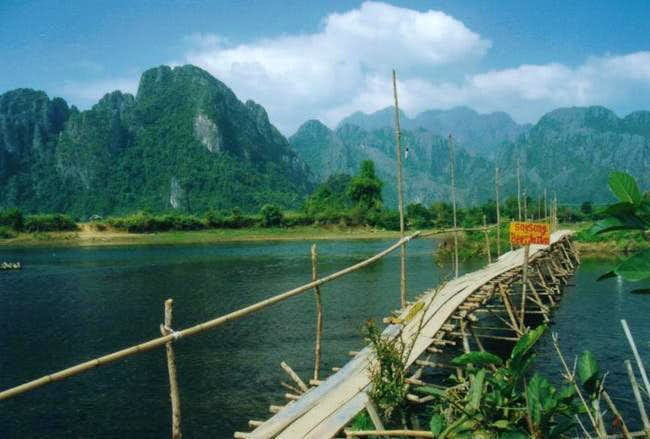 Image result for limestone mountains in vang vieng
