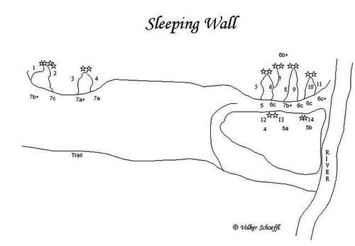 Sleeping Wall - routes