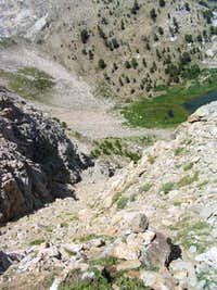 Looking back down from...