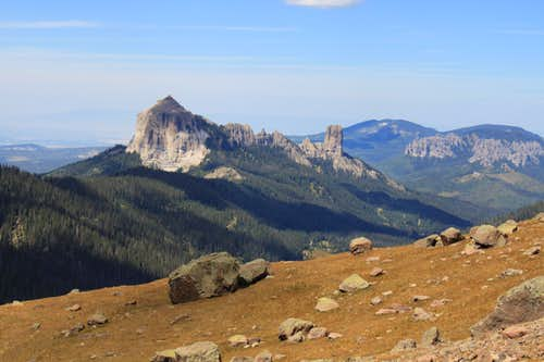 Chimney Rock and Courthouse Mountain