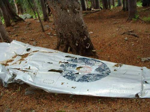 Plane wreck on East Baldy Trail