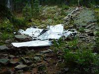 Plane wreck on East Baldy