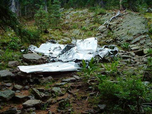 Plane wreck on East Baldy