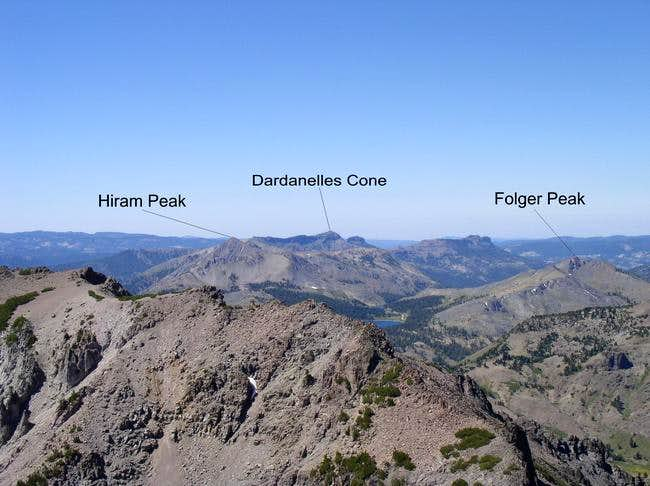 View southwest from peak...