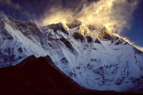 Lhotse South Face, morning