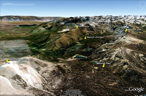 Mammoth Lakes Basin - Topography 1