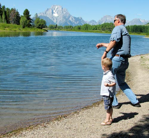 Rock-skipping at Oxbow Bend