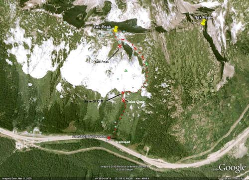 Google Earth Route