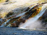 Grand Prismatic Spring runoff