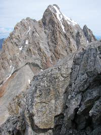 Grand Teton over Middle Teton cliffs