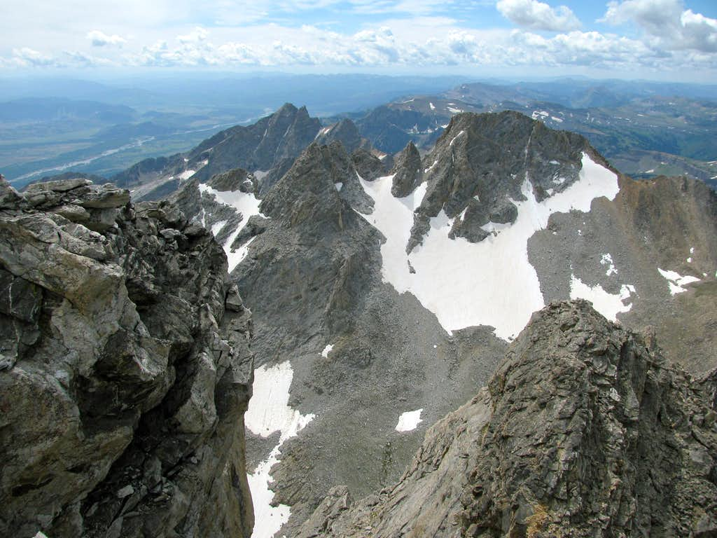 View south from Middle Teton