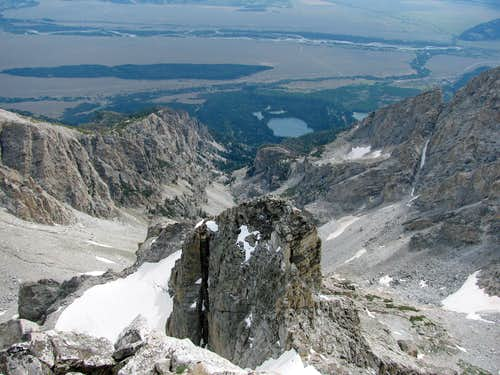 View east from Middle Teton