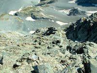 Blanca Ridge looking down the...