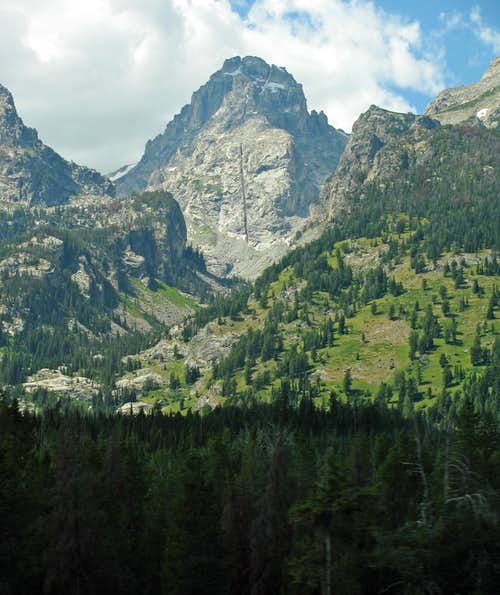 Middle Teton over Garnet Canyon