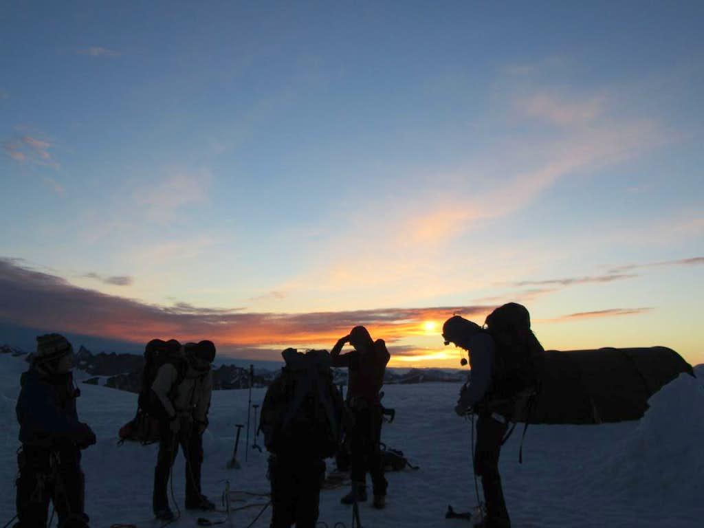 Sunrise on the Homathko Icefield