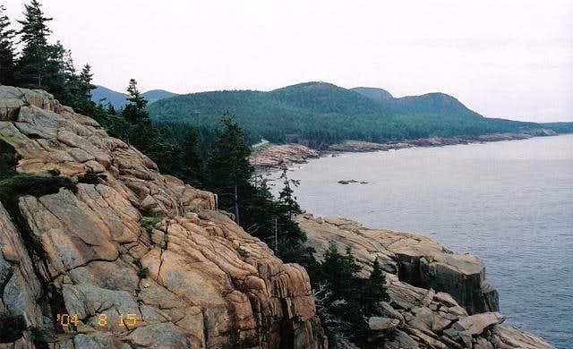 Otter Cliffs Maine Looking north