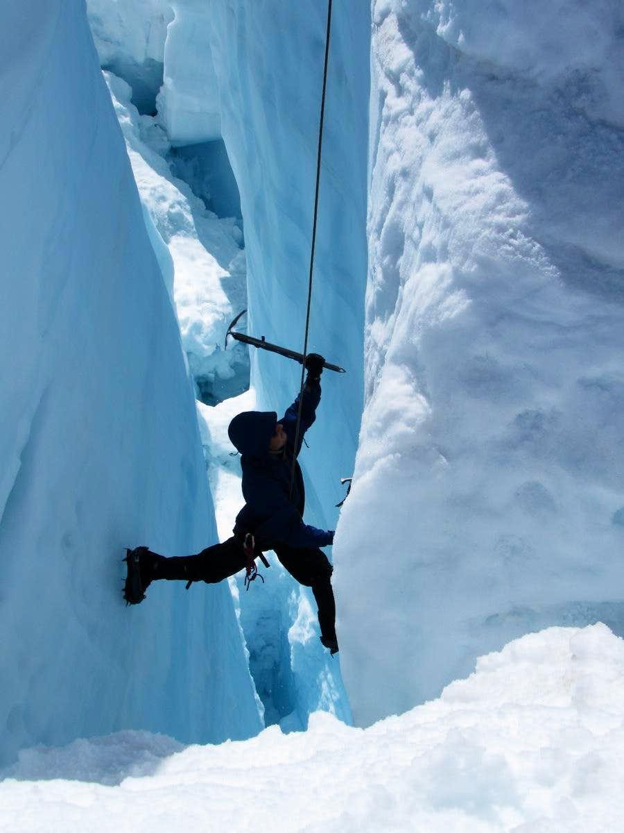 Ice Climbing on the Homathko