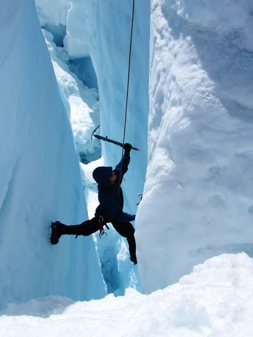Ice Climbing on the Homathko